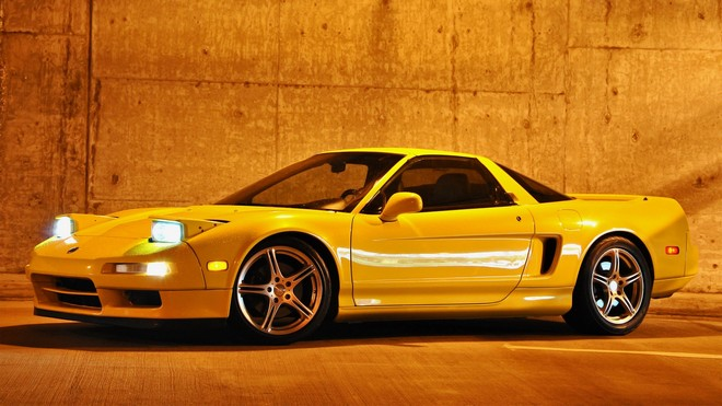 1920x1080 wallpapers: acura, nsx-t, yellow, side view, acura, style, nxx-t, auto (image)