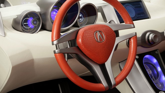1920x1080 wallpapers: acura, rd-x, concept, salon, speedometer, steering wheel (image)