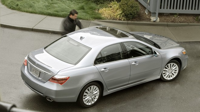1920x1080 wallpapers: acura, rl, 2010, silver metallic, acura, style, asphalt, auto, grass (image)