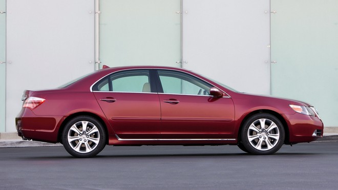 1920x1080 wallpapers: acura, rl, red, side view, auto, style (image)