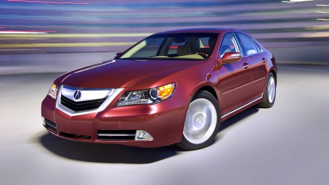 1920x1080 wallpapers: acura, rl, red, front view, auto, space, speed, style, movement (image)