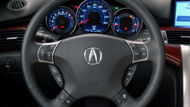 1920x1080 wallpapers: acura, rl, interior, steering wheel, acura (image)