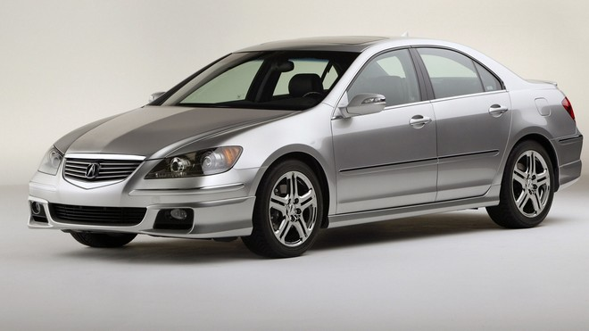 1920x1080 wallpapers: acura, rl, metallic gray, side view, auto, acura (image)