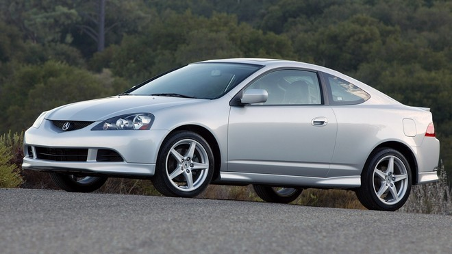 1920x1080 wallpapers: acura, rsx, silver metallic, side view, forest, asphalt, auto, acura, nature (image)