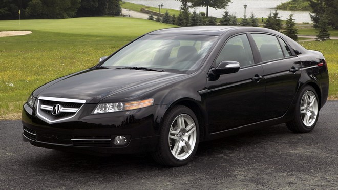 1920x1080 wallpapers: acura, tl, 2007, black, nature, auto, style, acura, trees, lawn, water (image)