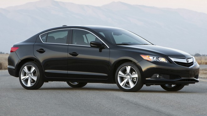 1920x1080 wallpapers: acura, black, sedan, style, auto, nature, ilx, side view (image)