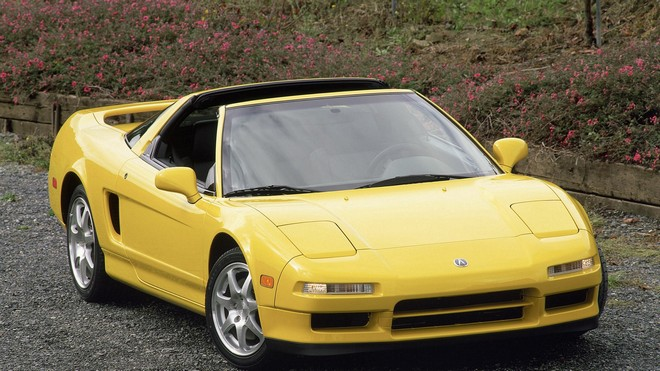 1920x1080 wallpapers: acura, nsc-t, yellow, front view, auto, nature, style, nsx-t, sport (image)