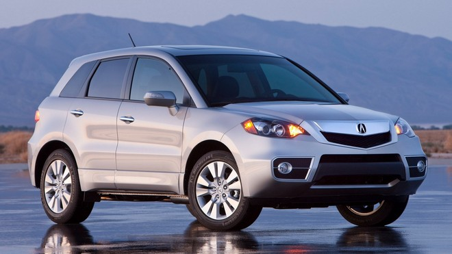 1920x1080 wallpapers: acura, silver metallic, side view, jeep, reflection, rdx, style, auto, mountains (image)