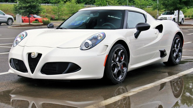 1920x1080 wallpapers: alfa romeo 4c, white, side view (image)