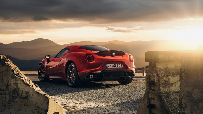 1920x1080 wallpapers: alfa-romeo, 4c, launch edition, red (image)