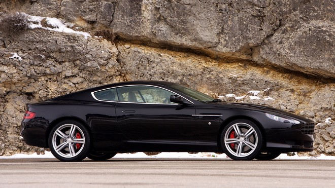 1920x1080 wallpapers: aston martin, 2006, black, side view, aston martin, db9, sports, car (image)