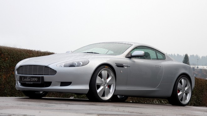 1920x1080 wallpapers: aston martin, 2007, silver metallic, side view, aston martin, trees, sport, shrubs, db9, auto (image)