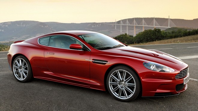 1920x1080 wallpapers: aston martin, 2008, red, side view, dbs, aston martin, mountains (image)
