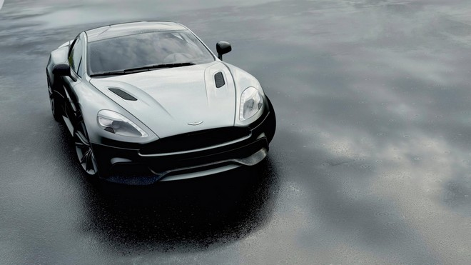 1920x1080 wallpapers: aston martin dbs v12, aston martin, black, front view (image)