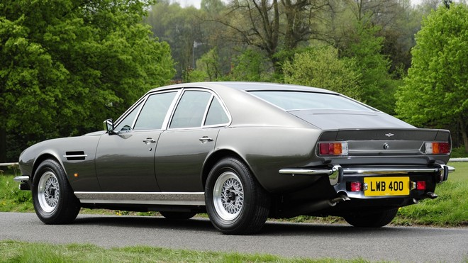 1920x1080 wallpapers: aston martin, lagonda, v8, 1974, auto, aston martin, side view, retro, nature (image)