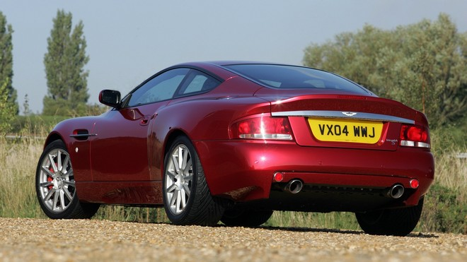 1920x1080 wallpapers: aston martin, v12, vanquish, 2004, nature, style, aston martin, rear view (image)