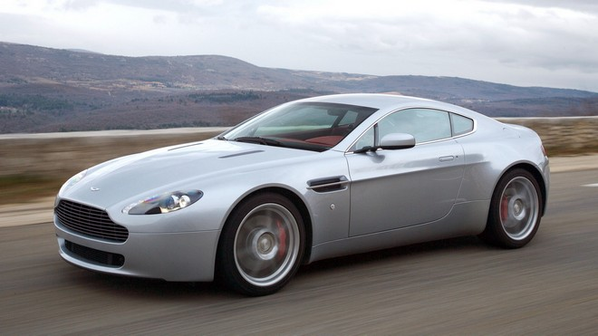 1920x1080 wallpapers: aston martin, v8, vantage, 2005, side view, auto, speed (image)