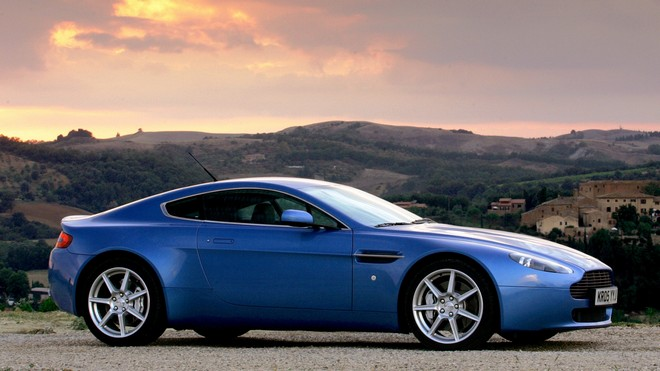 1920x1080 wallpapers: aston martin, v8, vantage, 2005, auto, nature, side view (image)