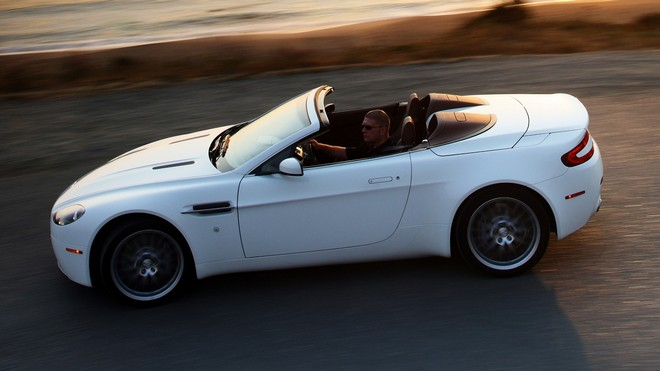 1920x1080 wallpapers: aston martin, v8, vantage, 2008, aston martin, speed, side view, convertible (image)