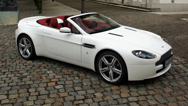 1920x1080 wallpapers: aston martin, v8, vantage, 2008, side view, convertible, style, street (image)