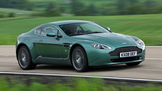 1920x1080 wallpapers: aston martin v8 vantage, 2008, green, side view, nature (image)