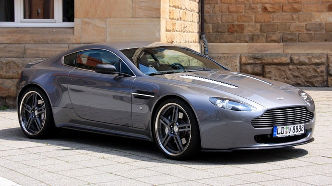 1920x1080 wallpapers: aston martin, v8, vantage, 2009, convertible, style, building, side view (image)