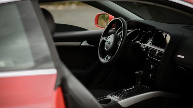 1920x1080 wallpapers: audi a5, audi, steering wheel, machine, black (image)