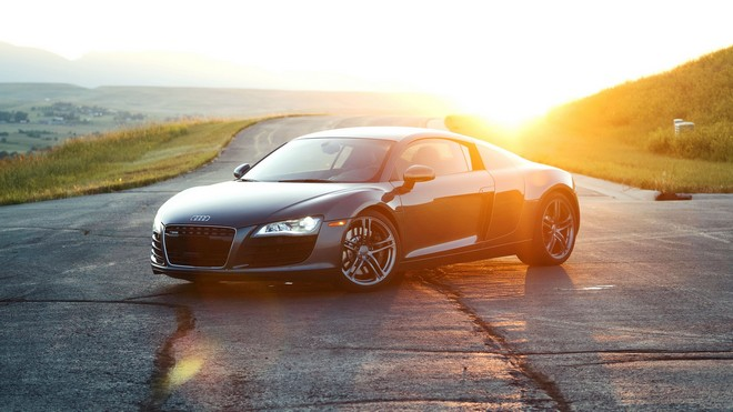 1920x1080 wallpapers: audi r8, audi, sports car, black, sunlight (image)