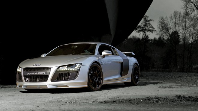 1920x1080 wallpapers: audi, r8, side view, silver (image)