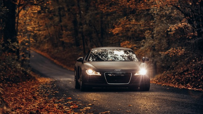 1920x1080 wallpapers: audi tt, audi, road, autumn, asphalt (image)