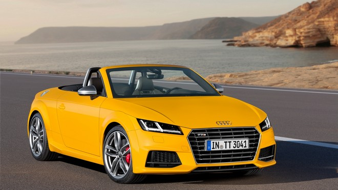 1920x1080 wallpapers: audi, tts, tt, yellow, 2014 (image)