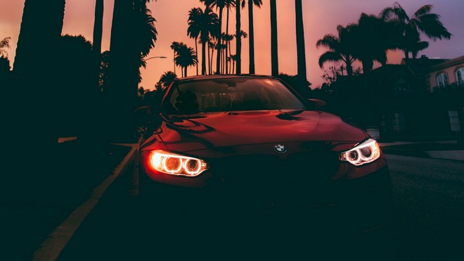 1920x1080 wallpapers: bmw 3, bmw, sunset, front view (image)