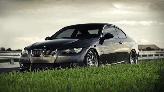1920x1080 wallpapers: bmw, bmw 3 series coupe 335i coupe, lawn, grass (image)