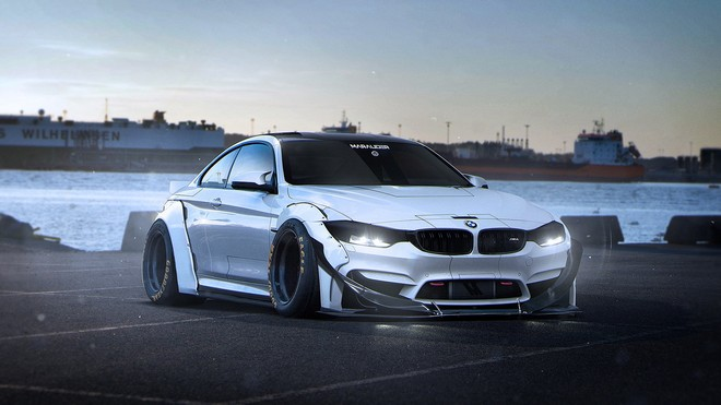 1920x1080 wallpapers: bmw, m4, marauder, tuning, side view (image)
