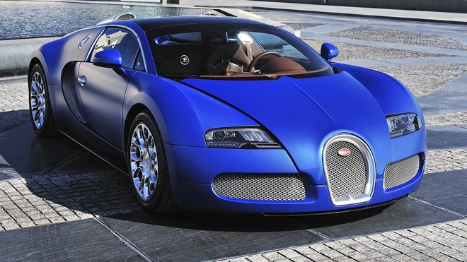 1920x1080 wallpapers: bugatti, veyron, blue, front view (image)