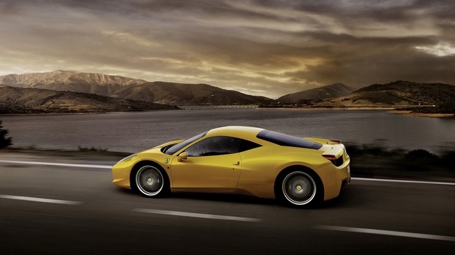 1920x1080 wallpapers: ferrari 458 italia, yellow, auto, side view (image)