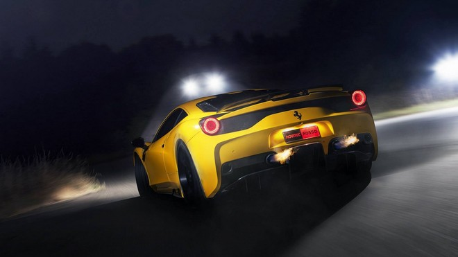 1920x1080 wallpapers: ferrari, 458 speciale, yellow, headlights, beautiful (image)