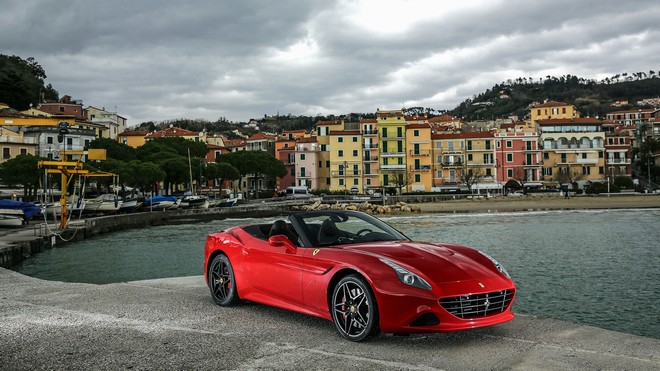 1920x1080 wallpapers: ferrari, california, red, side view (image)