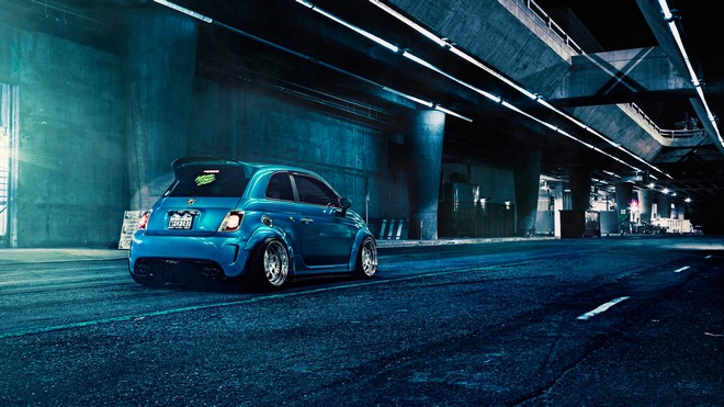 1920x1080 wallpapers: fiat, 500, abarth, blue (image)