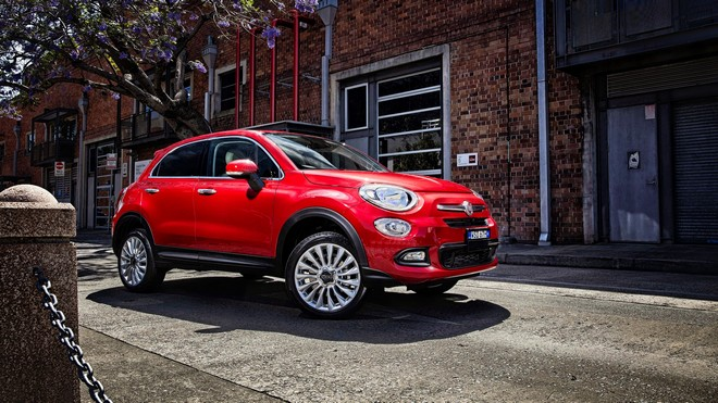 1920x1080 wallpapers: fiat, 500x, side view, red (image)
