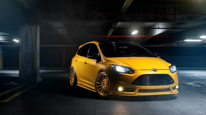 1920x1080 wallpapers: focus, ford, front view, yellow, super (image)
