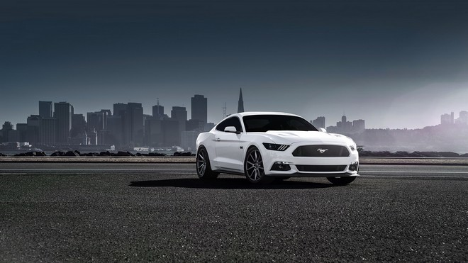 1920x1080 wallpapers: ford, mustang, 2015, vossen, side view (image)