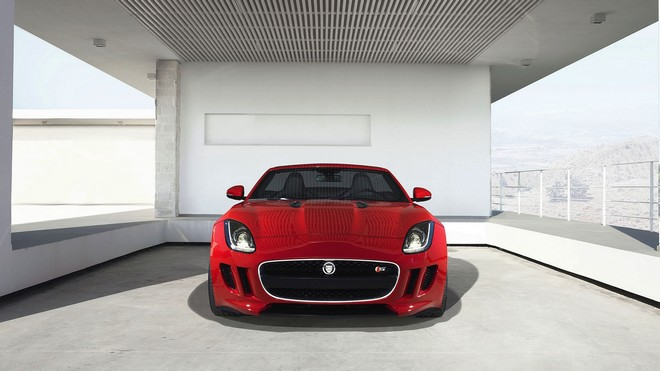 1920x1080 wallpapers: jaguar, f-type, red, front view (image)
