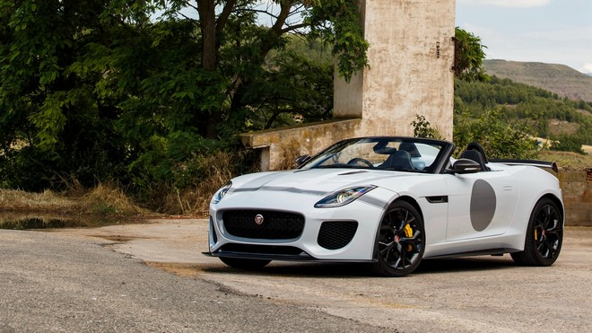 1920x1080 wallpapers: jaguar, f-type, project 7, white (image)
