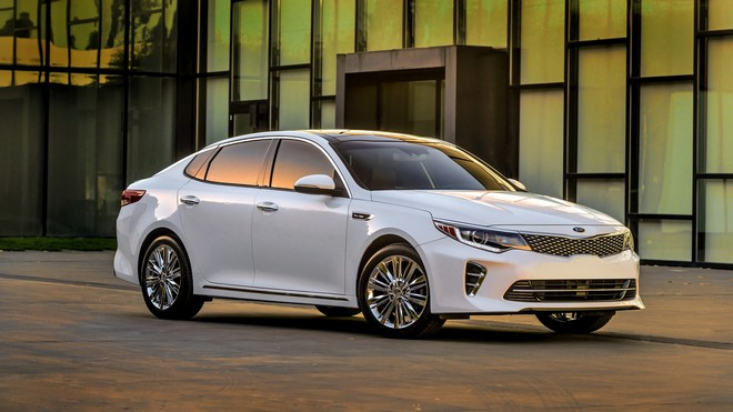 1920x1080 wallpapers: kia, optima, white, side view (image)
