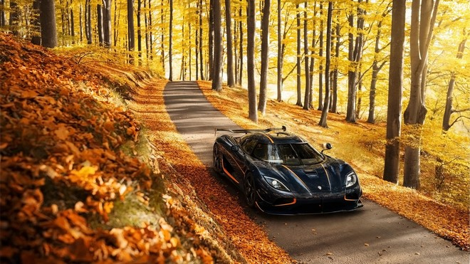 1920x1080 wallpapers: koenigsegg, agera, rs, side view, trees (image)