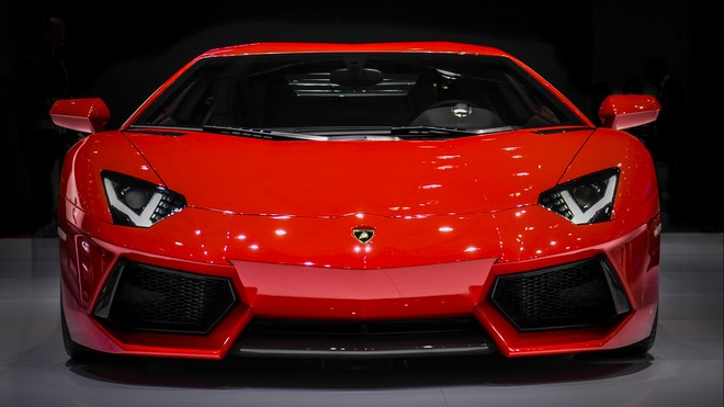 1920x1080 wallpapers: lamborghini aventador, lamborghini, sports car, supercar, front view (image)