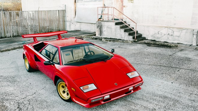 1920x1080 wallpapers: lamborghini, countach, lp5000 s, red (image)