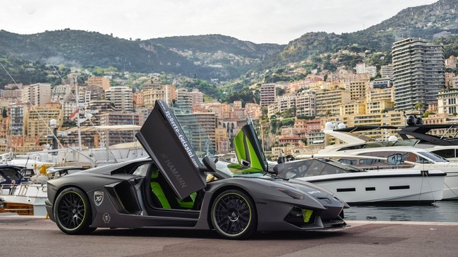 1920x1080 wallpapers: lp700-4, lamborghini, aventador, gray, pier (image)