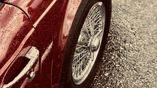 1920x1080 wallpapers: machine, red, wet, wheel, velocidad (image)